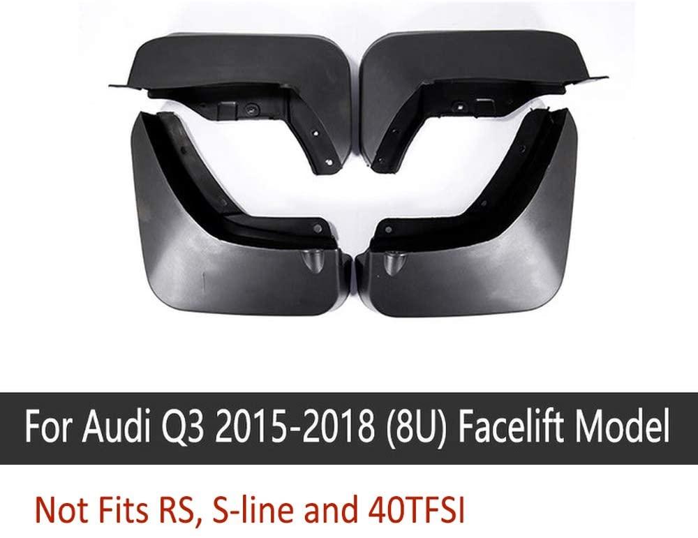 N2Qnice 4 PCS Front Rear Car Mudflaps for Audi Q3 2015-2018 (8U) Facelift Model Fender Mud Guard Flap Splash Flaps Mudguards Accessories