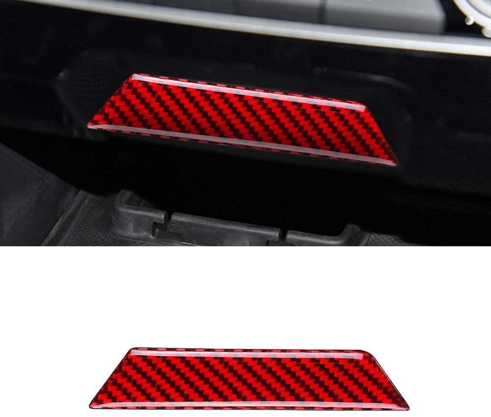 BLAKAYA Compatible with Center Control Storage Decoration Carbon Fiber Interior Cover for Honda Civic 2020 2019 2018 2017 2016 Trim ?Red?1pc?