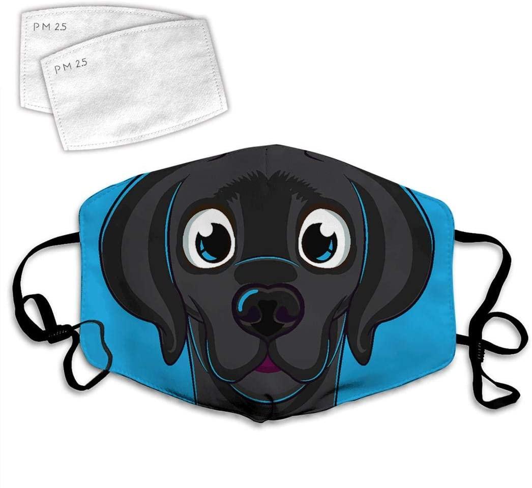 GDSFSD Cartoon Dog Facial Decorations Dustproof 3D Fashion Printing Adjustable Unisex