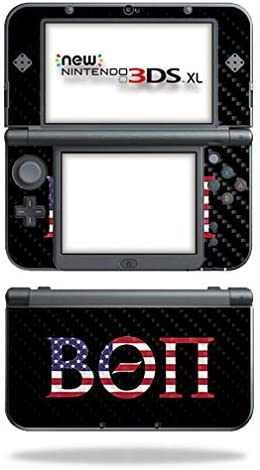 MightySkins Carbon Fiber Skin for Nintendo New 3DS XL (2015) - Beta Theta Pi Americana | Protective, Durable Textured Carbon Fiber Finish | Easy to Apply, Remove, and Change Styles | Made in The USA