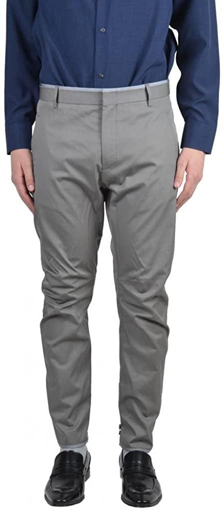 LANVIN Men's Gray Casual Pleated Pants