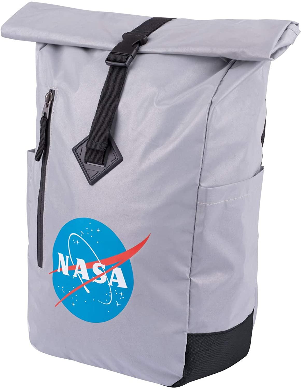 NASA Rolltop Backpack Travel Roll Top Rucksack for School Teenagers Men Women