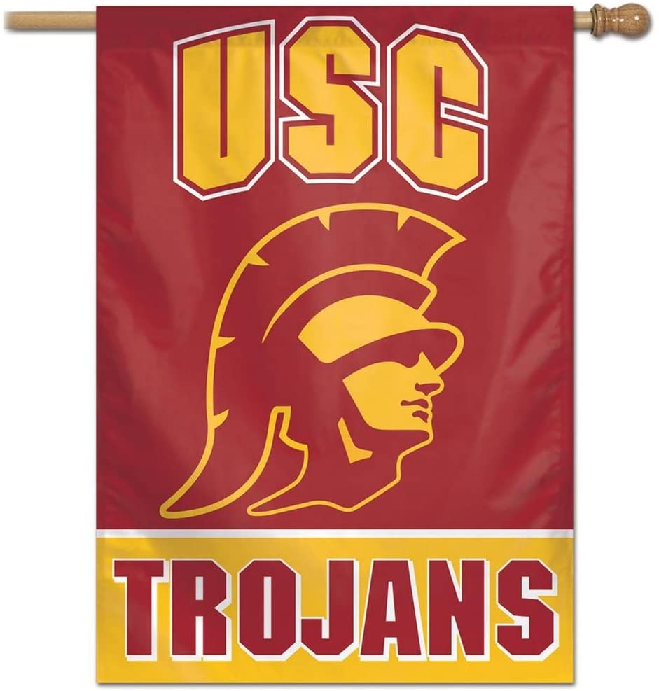 WinCraft NCAA USC Trojans Banner28x40 Vertical Banner, Team Colors, One Size