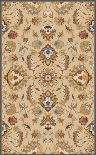 Diva At Home 8' x 11' Flavian Blond and Lemon Grass Hand Tufted Wool Area Throw Rug