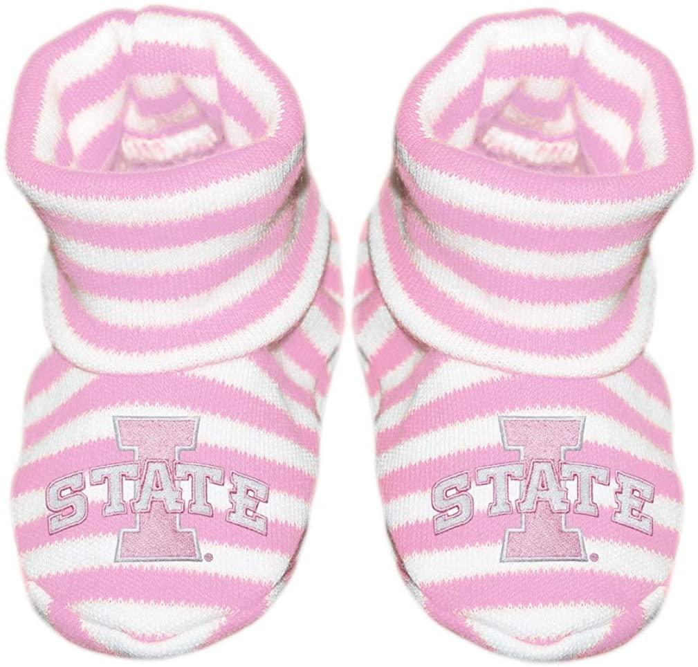 Iowa State University I State Newborn Baby Striped Bootie Sock