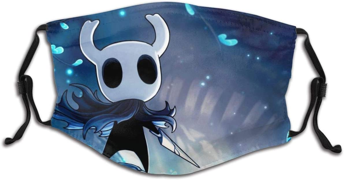 Dust Masks Full Face Mask Hollow's Knight Pattern Mask,Dust Mask,Hat Neck Gaiter Headwear Mouth Masks With Two Replaceable Filters