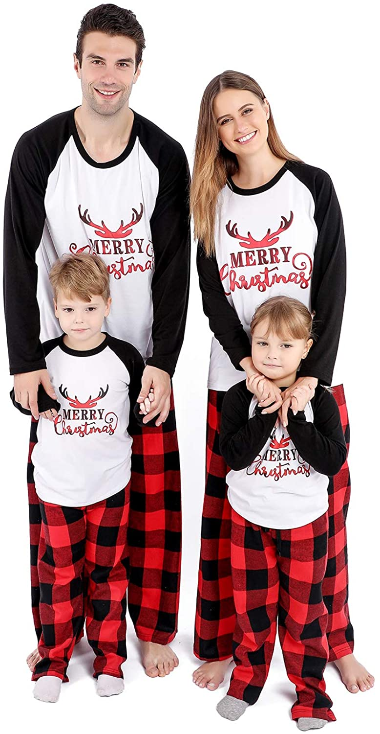 Matching Christmas Pajamas for Family, Holiday PJs for Women/Men/Kids/Couples, Vacation Cute Printed Loungewear Sleepwear