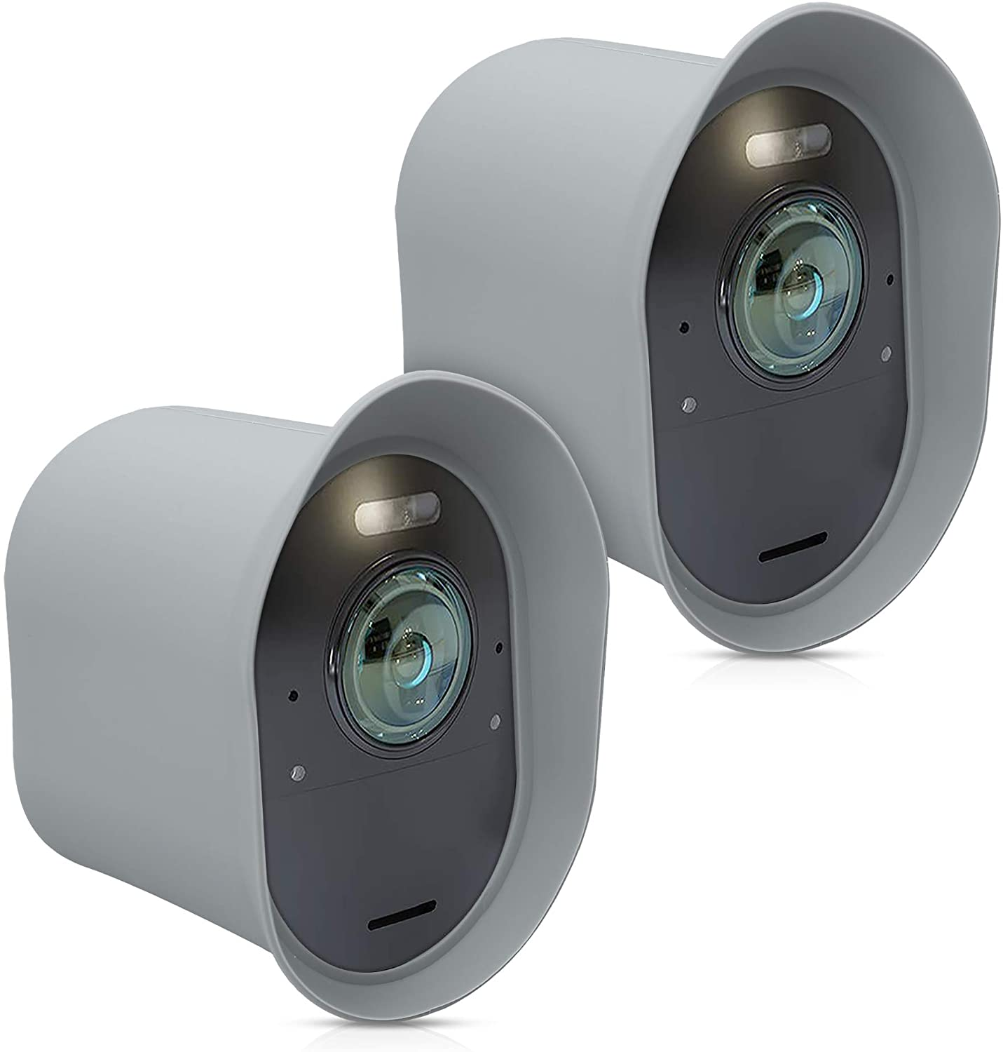 kwmobile 2X Skin Compatible with Arlo Ultra/Arlo Pro 3 - Silicone Security Camera Case Outdoor CCTV Cover - Light Grey