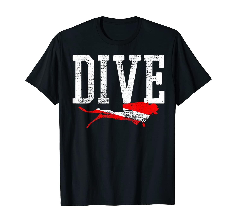 Diving Flag Diver Scuba Dive Station School Vacation Gift T-Shirt