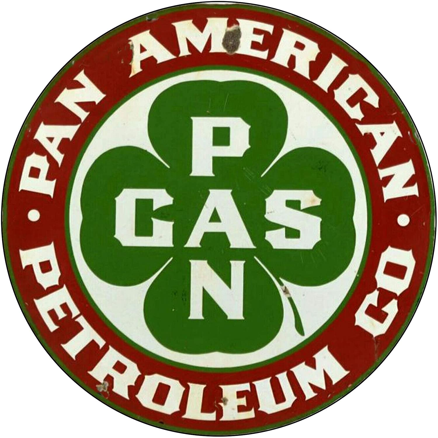 Brotherhood Vintage Gas Sign Reproduction Vintage Metal Signs Round Metal Tin Sign for Garage and Home 8 Inch Diameter – Pan American Petroleum Company