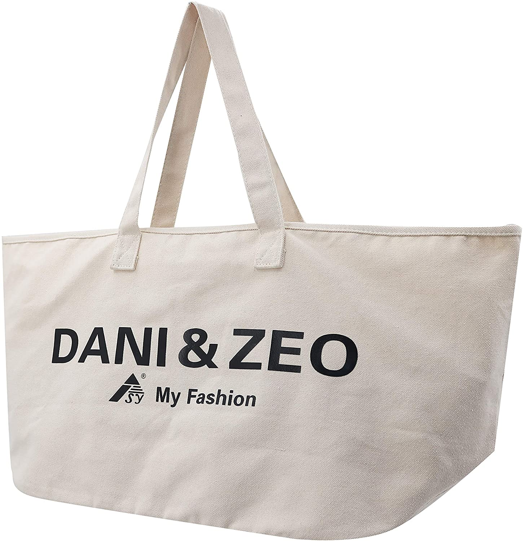 Large Canvas Tote bag for women Big Roomy 16 oz Canvas ECO shoulder bag
