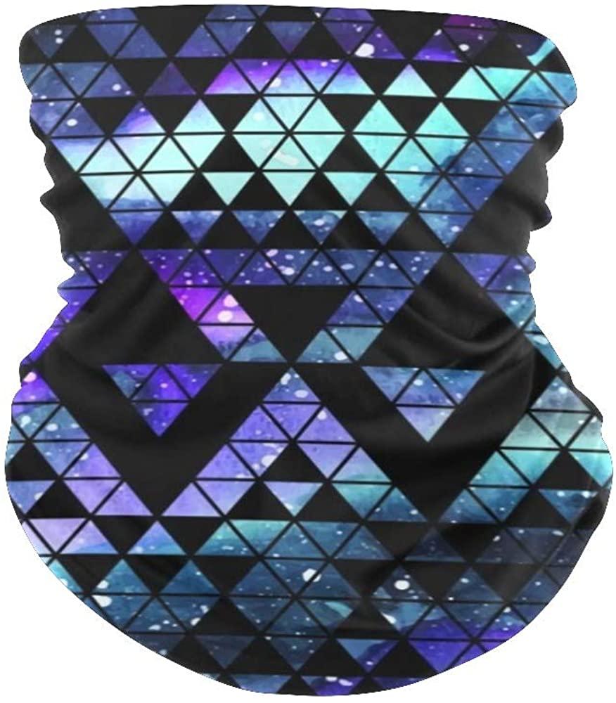Balaclava Face Mask Neck Gaiter Galaxy Triangle Geometric Bandanas for Out Doors, Festival,Sport