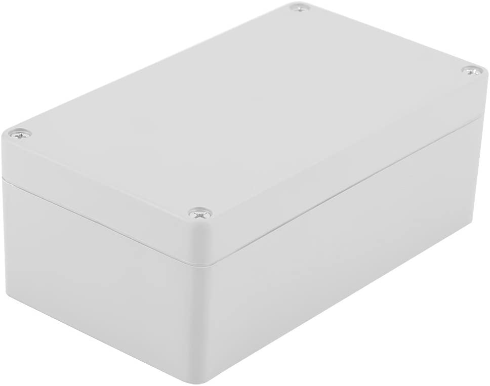 Junction Box, ABS Plastic DIY Electrical Project Case IP65 Waterproof Project Box Enclosure Instrument Case (158X90X60mm, Pack of 2)