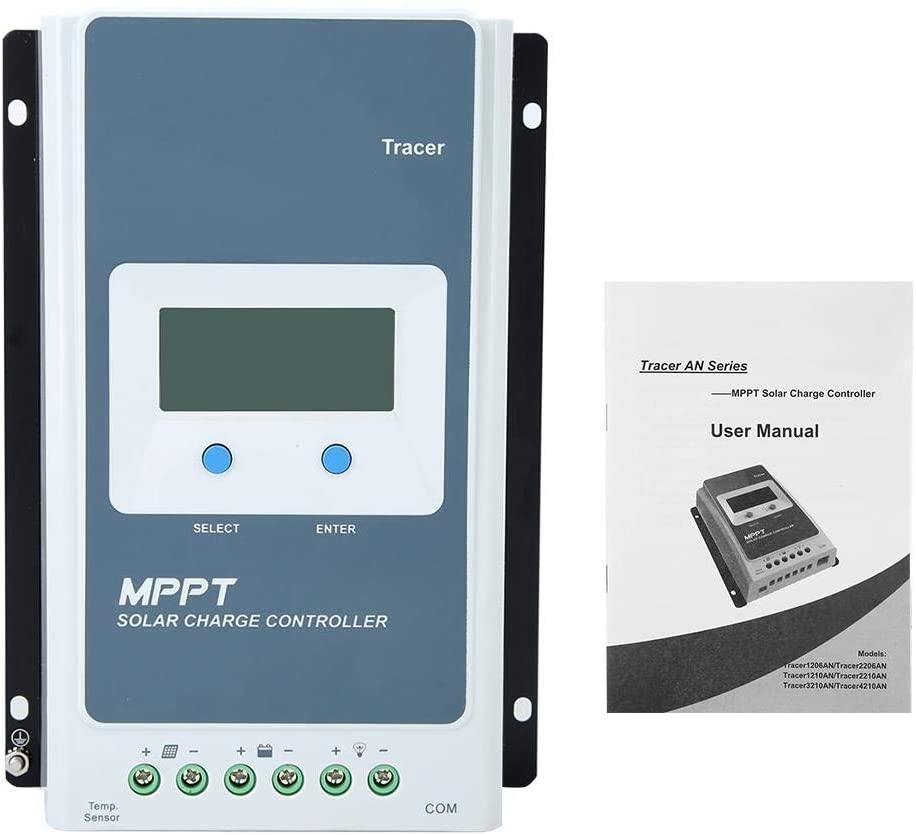 KIMISS Power Regulator, LCD MPPT Solar Charge Controller Tracer AN Power Regulator 20A 12V/24V