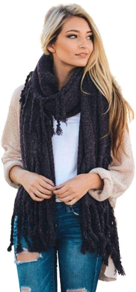 Chunky knit Blanket Scarf for Women Lightweight soft stylish Plaid winter scarf