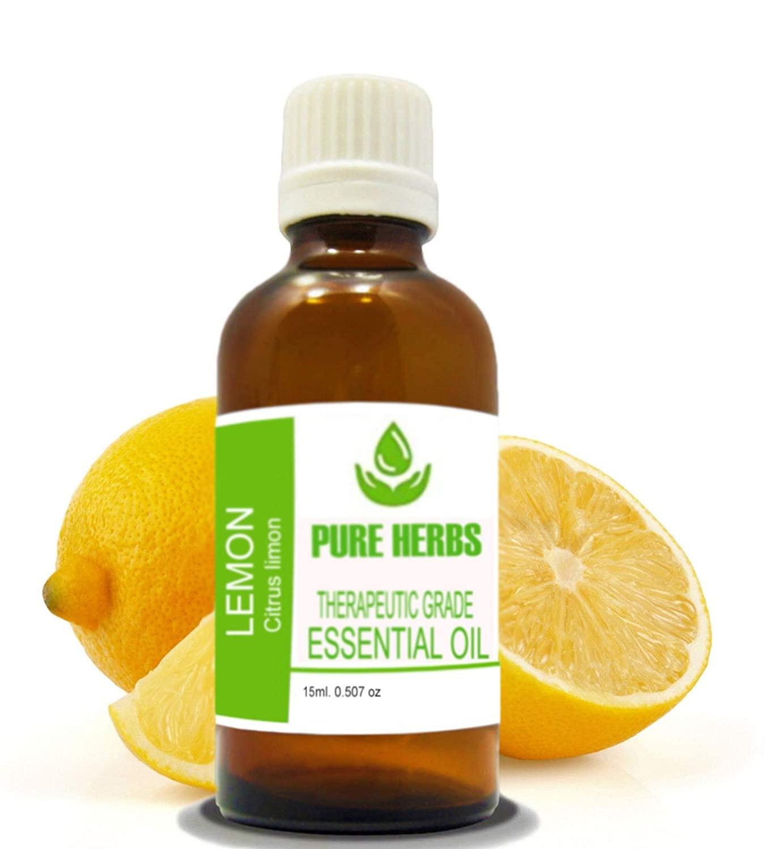 Lemon Pure & Natural Therapeutic Grade Citrus Limonum Essential Oil 15ml (0.50 oz) (10ml- 0.33 oz)