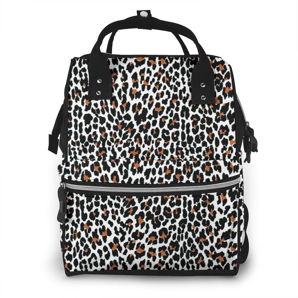Leopard PrintDiaper Bag Bookbag School Shoulder Multi Functional Stylish Large Backpack Capacity Nappy Bags Mummy Durable Travel