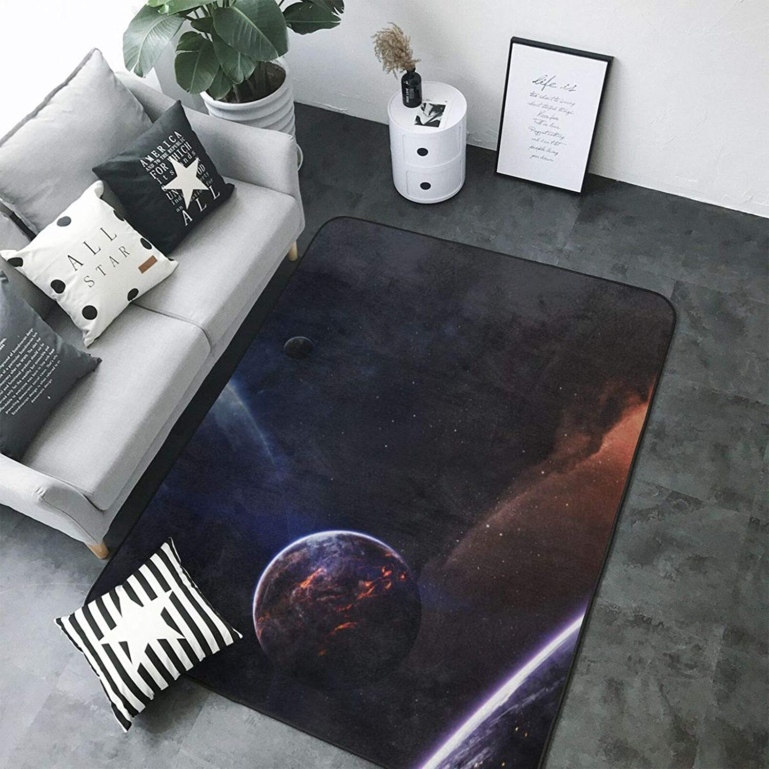 Home Living Room Bedroom Game Room Dormitory Home Decoration Luxury Modern Classic Thick Soft Area Carpet Home Decoration Anti-Slip Carpet Large Floor Mat