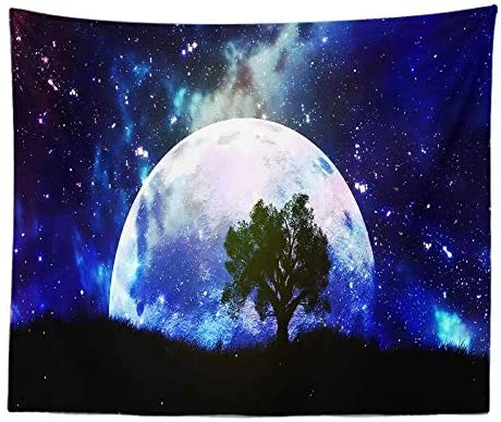ZY-KL Galaxy Tapestry, Starry Sky Tapestry, Psychedelic Tapestry, Space Landscape Tapestry, Starry Sky Art, Wall-Mounted Space Tapestries, for Home Decoration (59x51 inches) (GT12-10)