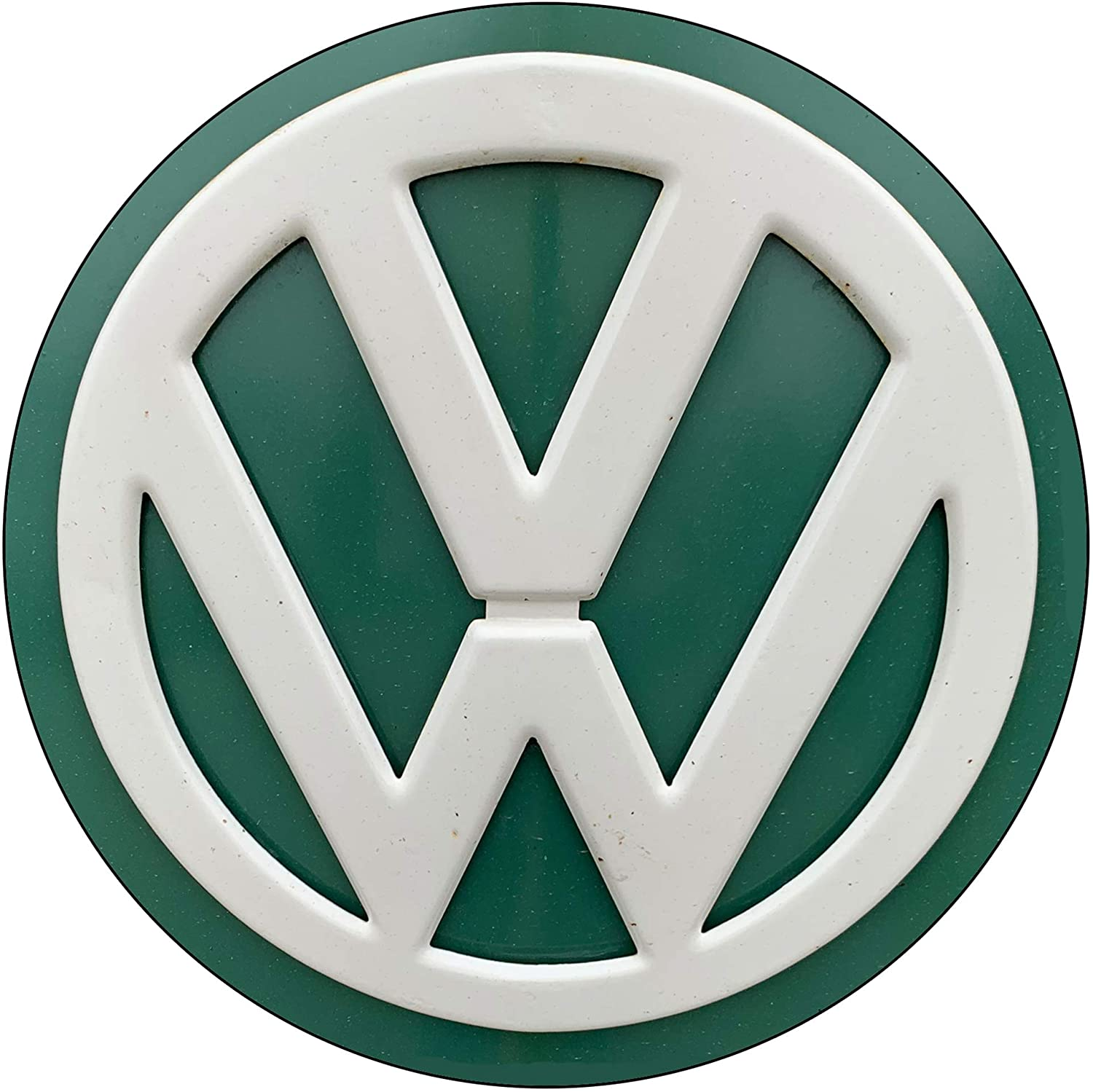 Brotherhood Vintage Gas Sign Reproduction Vintage Metal Signs Round Metal Tin Sign for Garage and Home 8 Inch Diameter – Volkswagon Bus Emblem