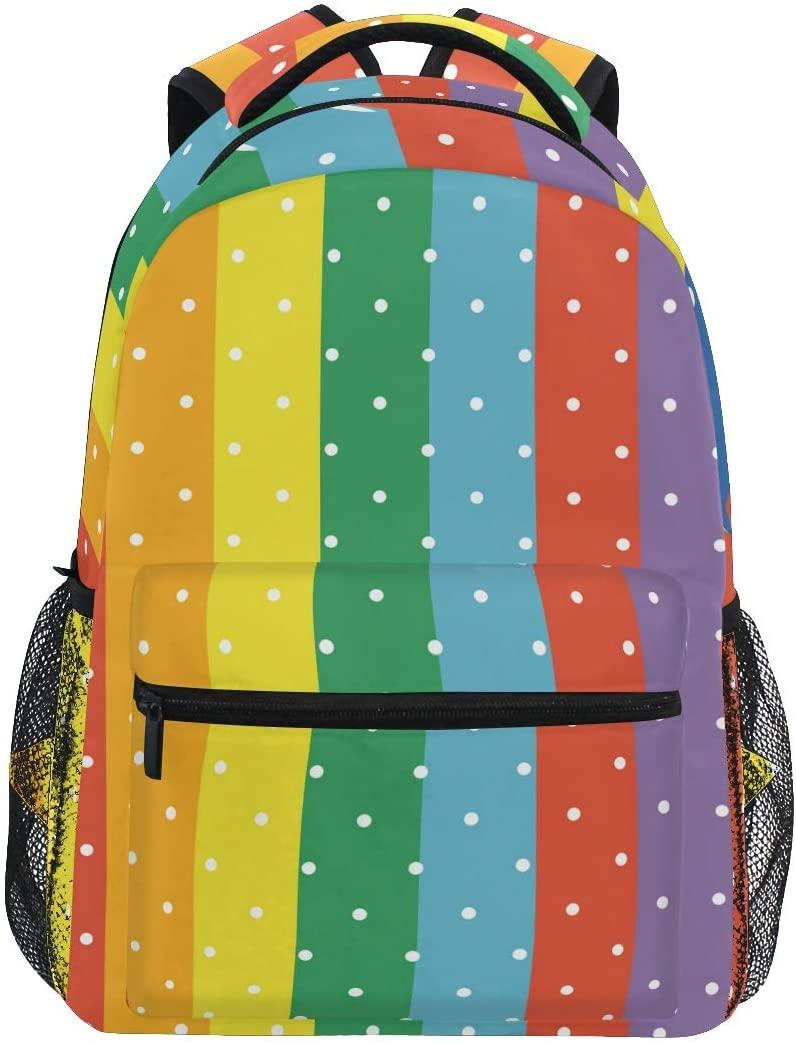 Backpack School Bookbag for Boy Girl Elementary School Rainbow Wave 2021633