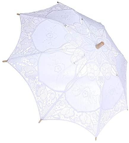 hongxinq Wedding Lace Lady Umbrella Parasol Sun Umbrellas Party Bridal Photo Taking Decor