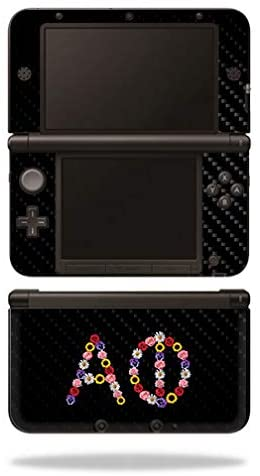 MightySkins Carbon Fiber Skin for Nintendo 3DS XL Original (2012-2014) - Alpha Phi Floral | Protective, Durable Textured Carbon Fiber Finish | Easy to Apply | Made in The USA