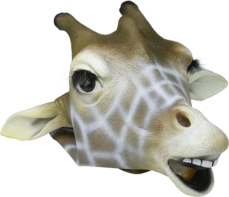 Forum Novelties Giraffe Mask : Deluxe Latex Animal Mask