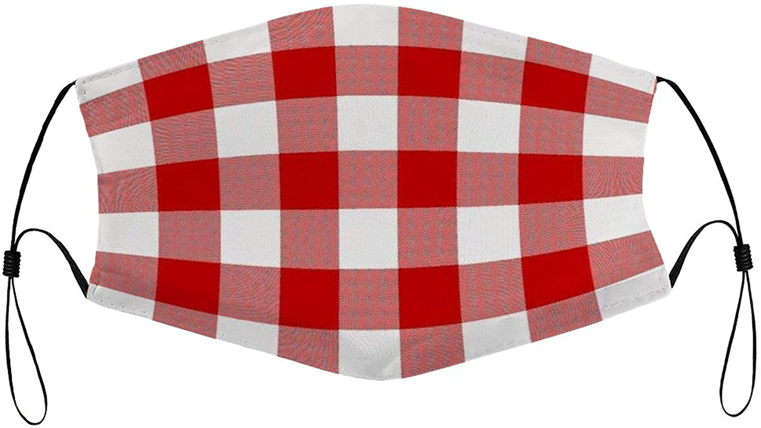 Face Mask Red Pattern Anti-dust Reusable Washable Unisex Mouth Cover with Breathable and Stretchy Cloth Facial Scarf for Men Women with Ear Loops