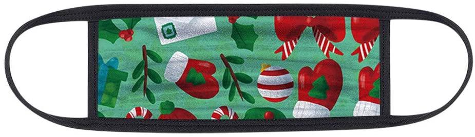 【Fast Shipment】1 Pc Yuyoo Christmas Fashion Face Ma&k,Adjustable Washable Bandanas,Shield Protector,Breathable and Anti-Haze Dust,for Unisex Adult