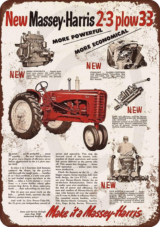 2 Pcs New Tin Sign 1953 Massey-Harris Tractors Vintage Look Aluminum Metal Sign 8x12 Inches
