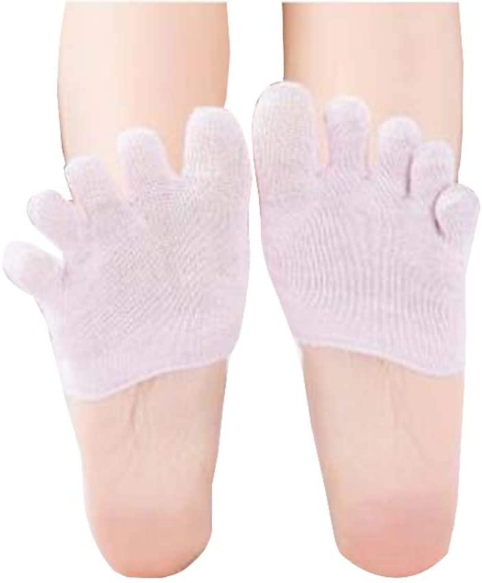 Black Temptation 5 Pairs of Five Finger Socks Invisible Socks Female Toe Socks, Purple