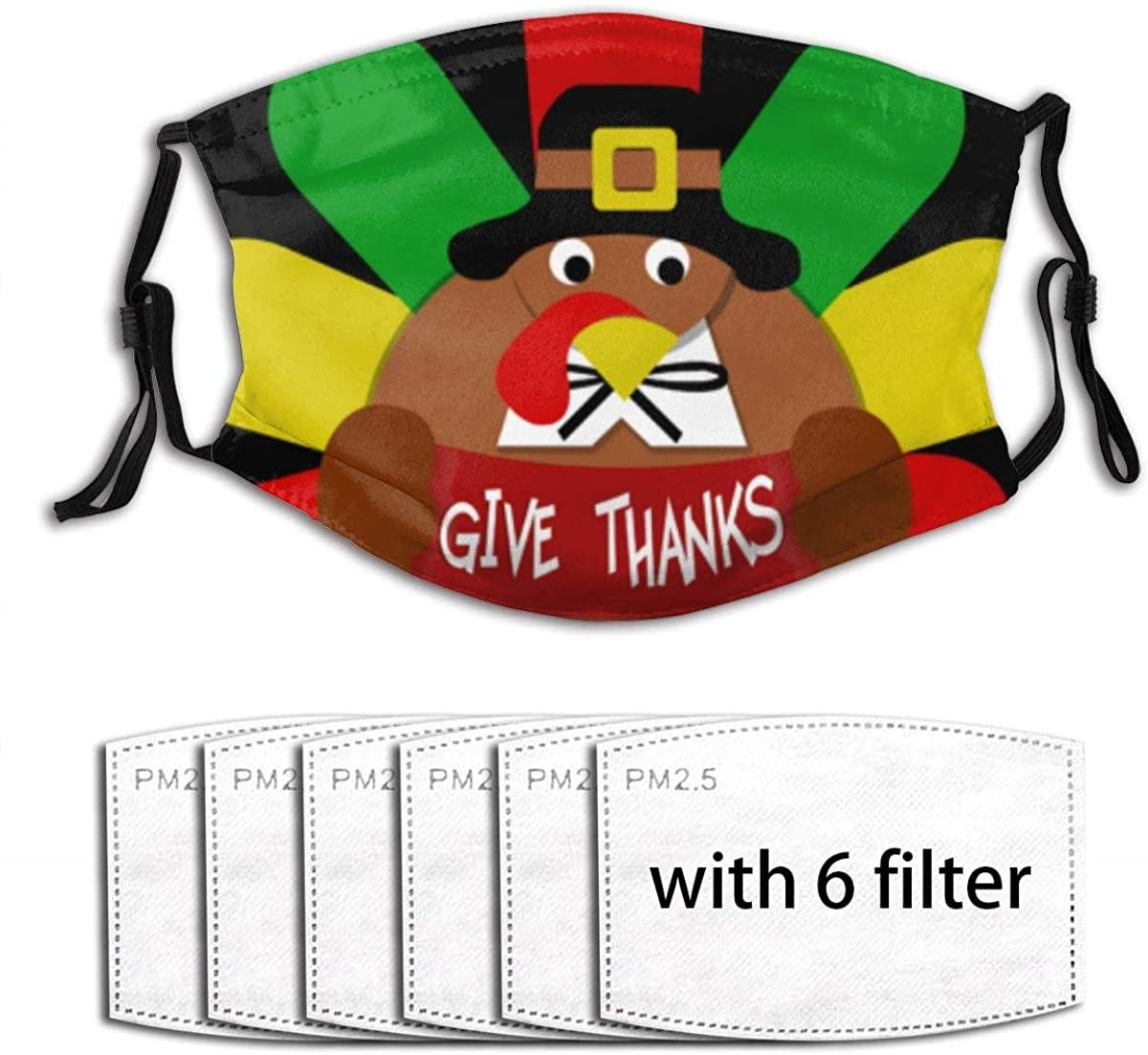 Thanksgiving Turkey Face Mask With Filter Pocket Washable Reusable Face Bandanas Balaclava