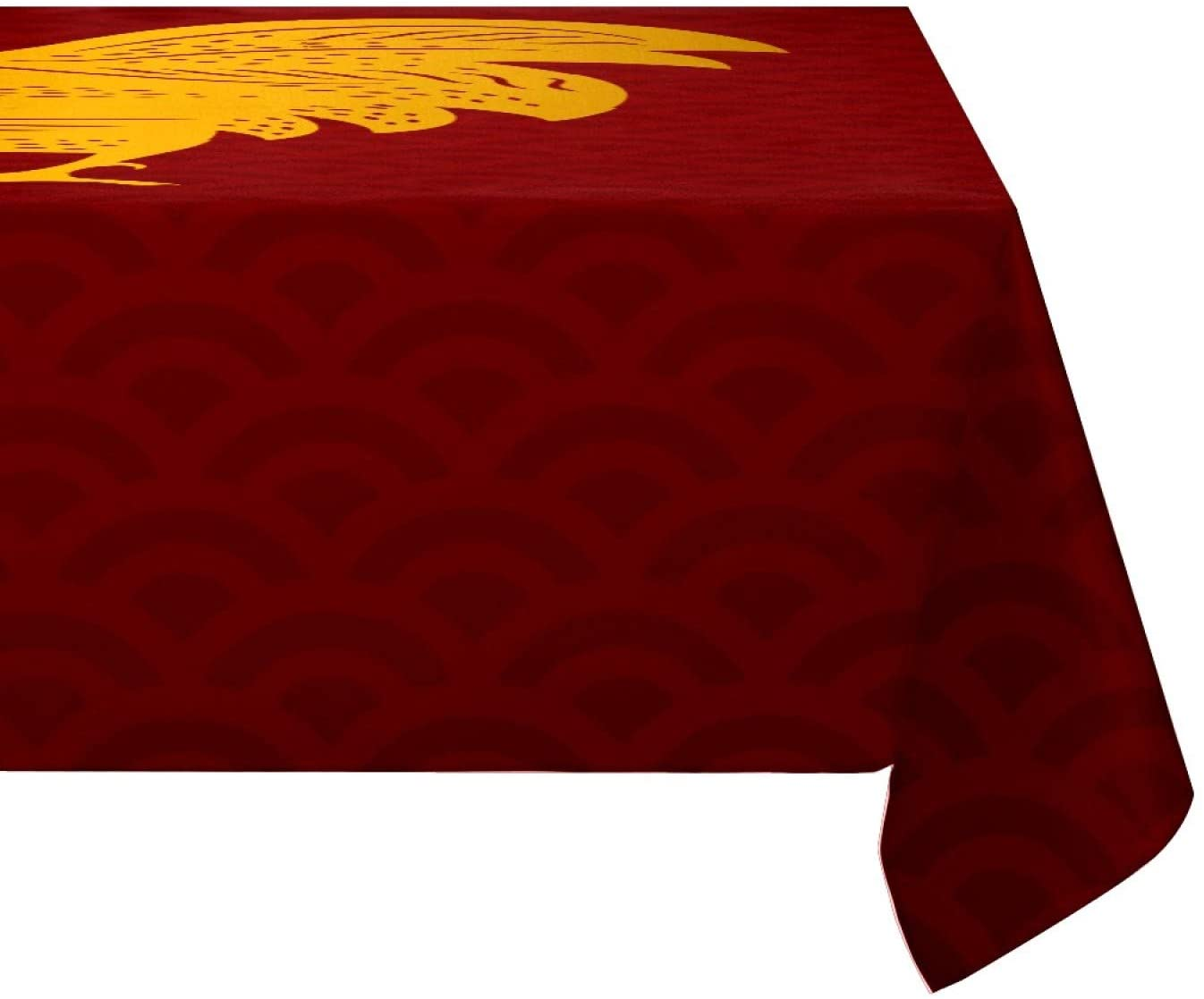 Rectangular Tablecloth Golden Rooster Eco-Friendly Non Wrinkle Washable Table Cover Party Dinner Fesitval Occasions 72x54in