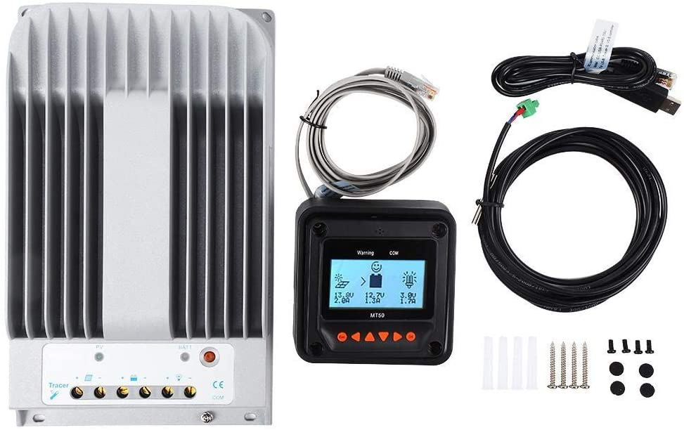 Fafeicy MPPT Solar Panel Charge Controller 4215BN + MT50 + PC Cable 12V/24V 40A