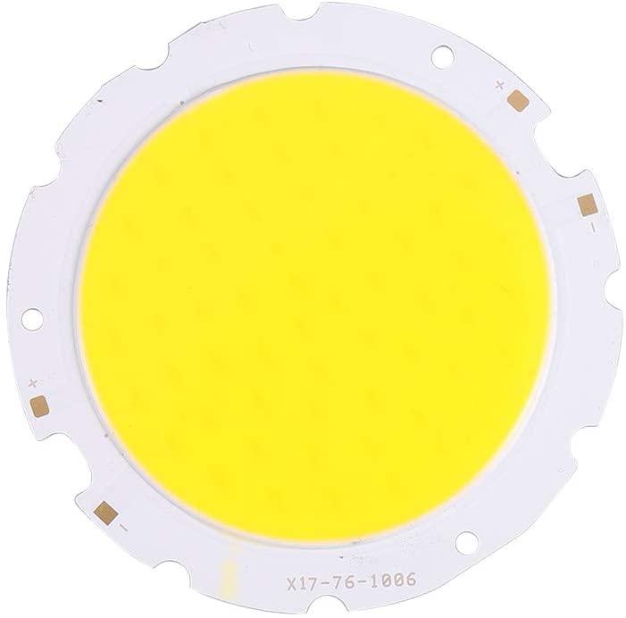 Othmro COB LED Chip DC 36-40V 900mA 30W High Power Beads Light 3000K Warm White Round Diameter 76mm 1 Piece