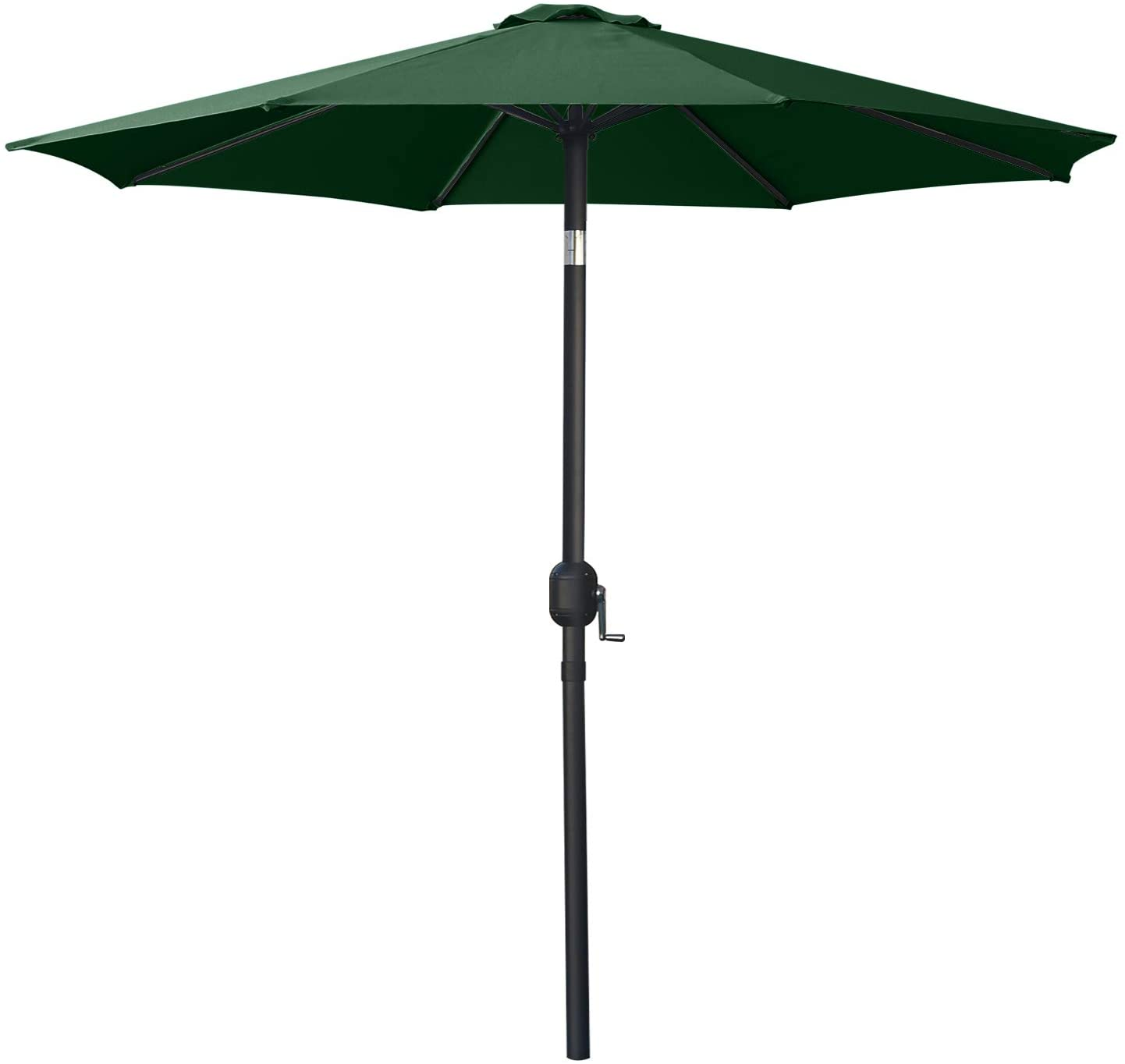 MASTERCANOPY Patio Umbrella Outdoor Fe-Al Market Table Umbrella with 8 Sturdy Ribs (9ft,Forest Green)