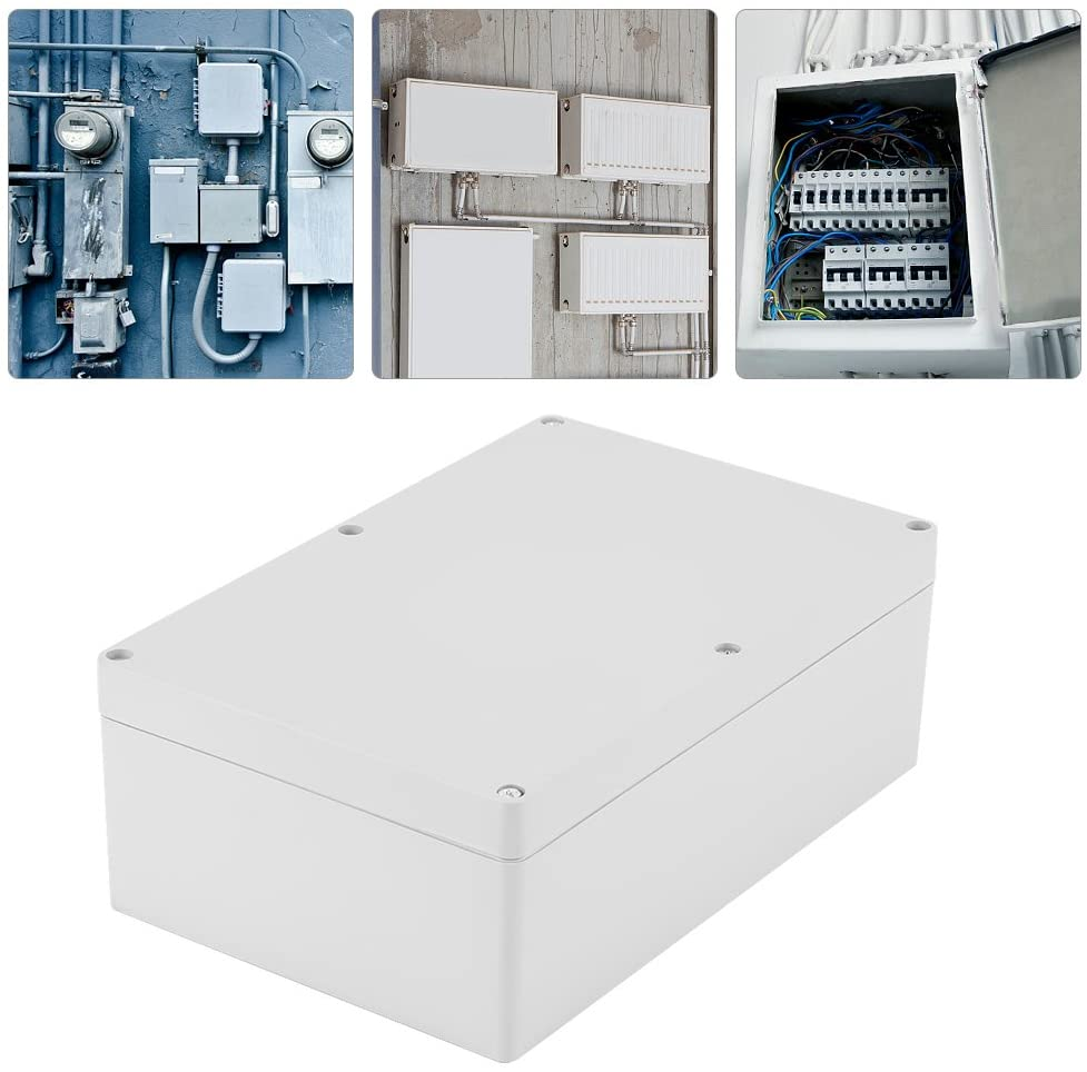 Electrical Enclosure Box IP65 Waterproof Junction Boxes Cable Connector ABS Plastic Project Box Enclosure Electrical Junction Box Outdoor, 23015085mm
