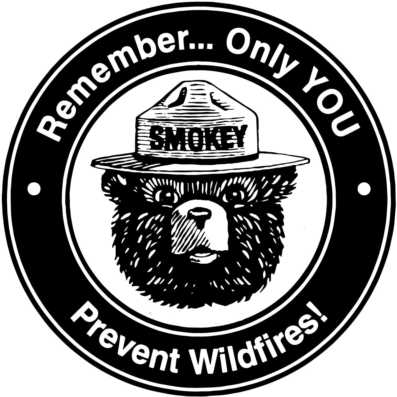Round Metal Tin Sign Smokey Bear 12x12 Inch Vintage Retro Wall Decor Funny Iron Painting 30cm Diameter