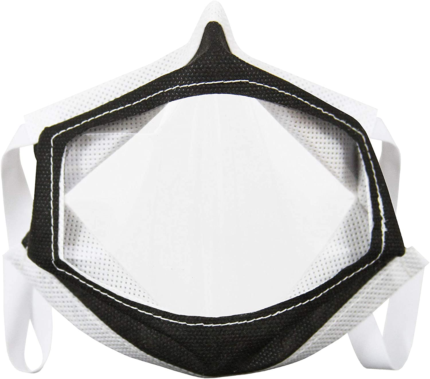 XPRS Clear Mouth Window Mask made from Reusable and Machine Washable Polypropylene, Black, XL