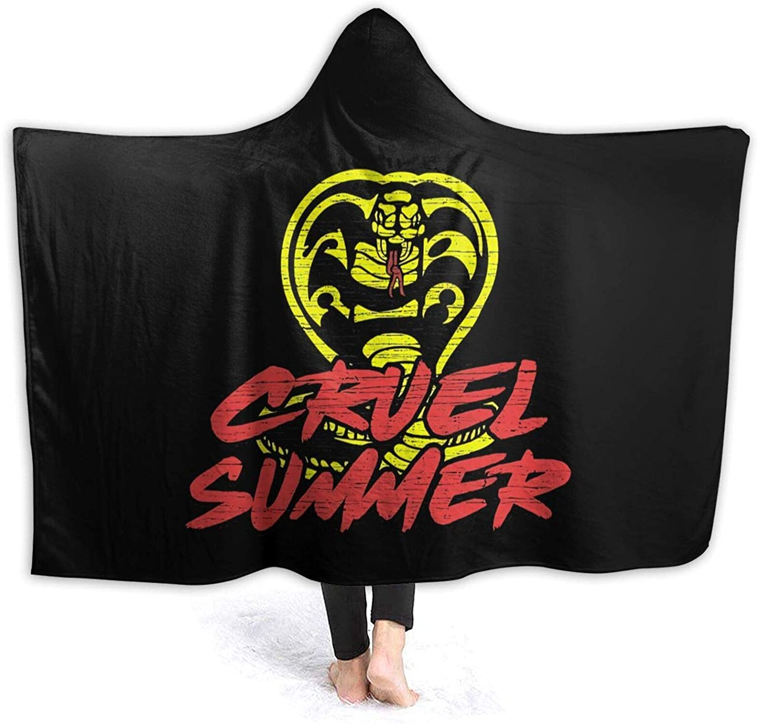 Mniunision Cobra-Kai-Denim-Dad with Cap Soft Warm Blanket, Flannel Fleece Blanket, Super Soft Micro-Velvet Blanket, Plush Bed Sofa Living Room 60X50 inches