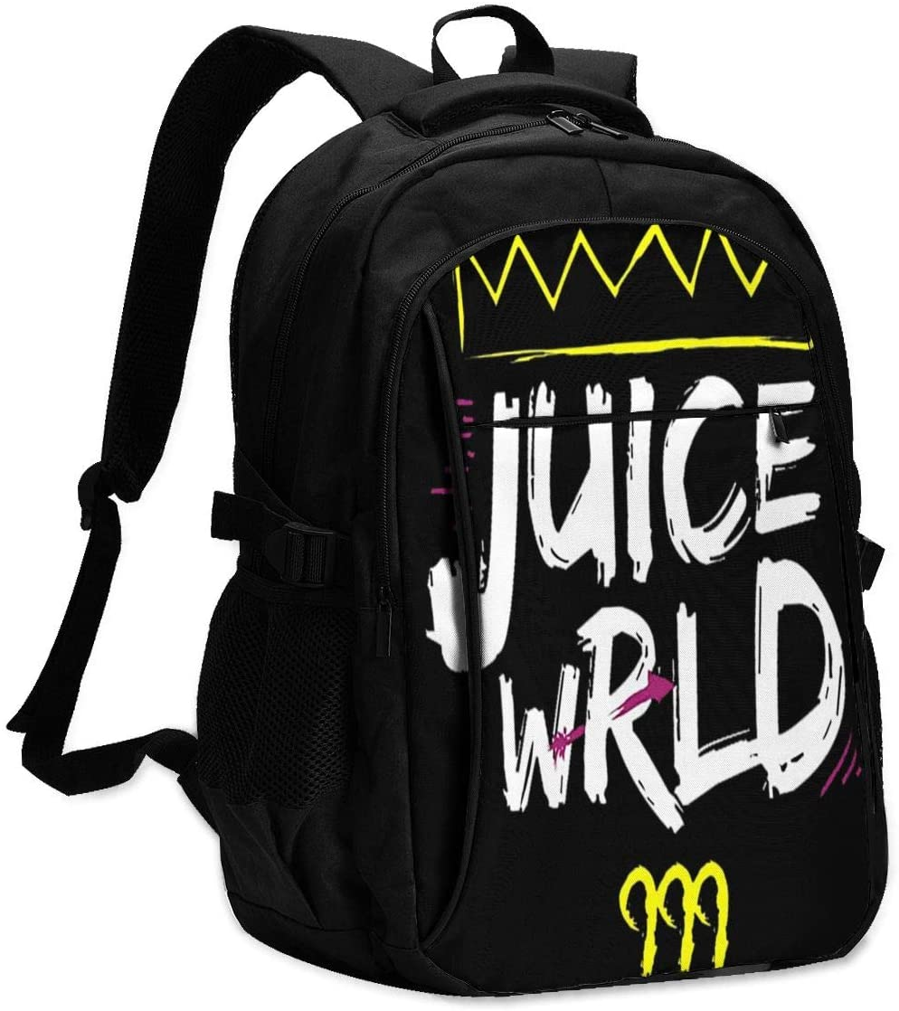 Other1 Juice Wrld Backpacks for Men Women,Extra Large Travel Laptop Backpack with USB Charging Port,Business Computer Bag College High School Bookbags Fit 18 Inch Laptops