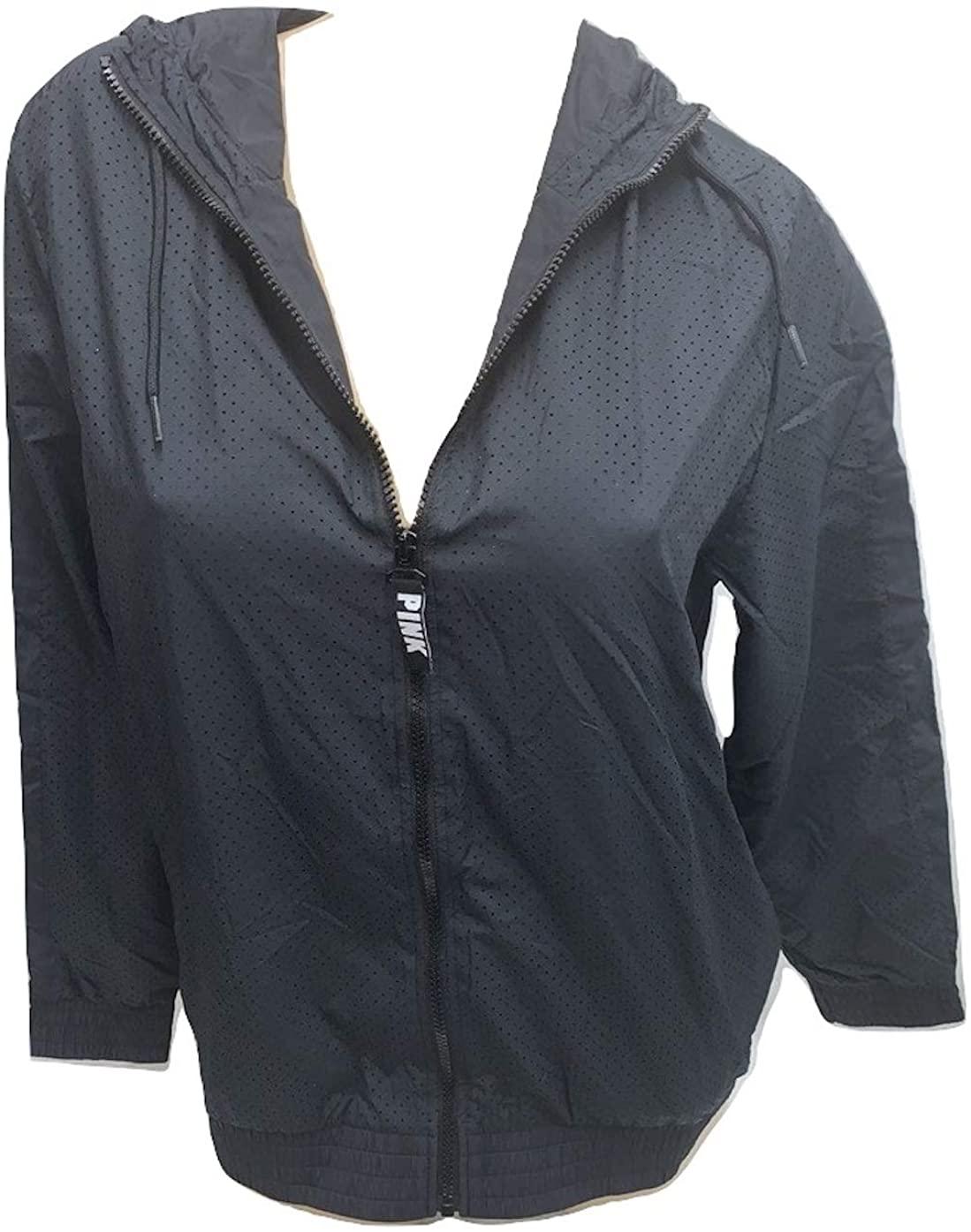 Pink Anorak Windbreaker Jacket Full Zip Color Black Size XSmall/Small NWT