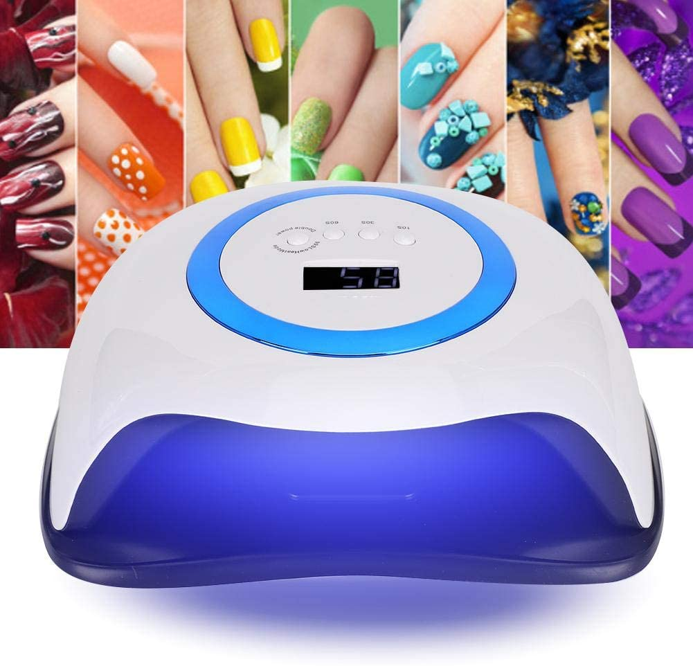 Rosvola 168W UV Light Nail Lamp,Compact Gel Nail Dryer Light Curing LED UV Gel Nail Polishes Professionally,Manicure Pedicure Gel Nail Starter Kit,Dryer Machine Portable Nail Dryer Manicure(us)