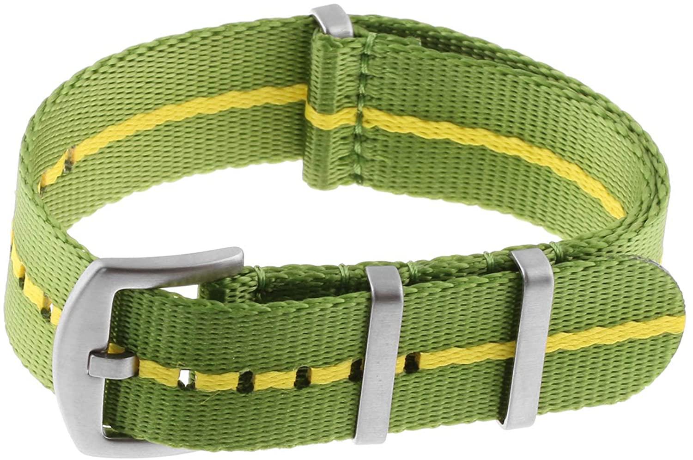 StrapsCo Premium Nylon Seat Belt Wrap Around Watch Band Strap 18mm 20mm 22mm 24mm