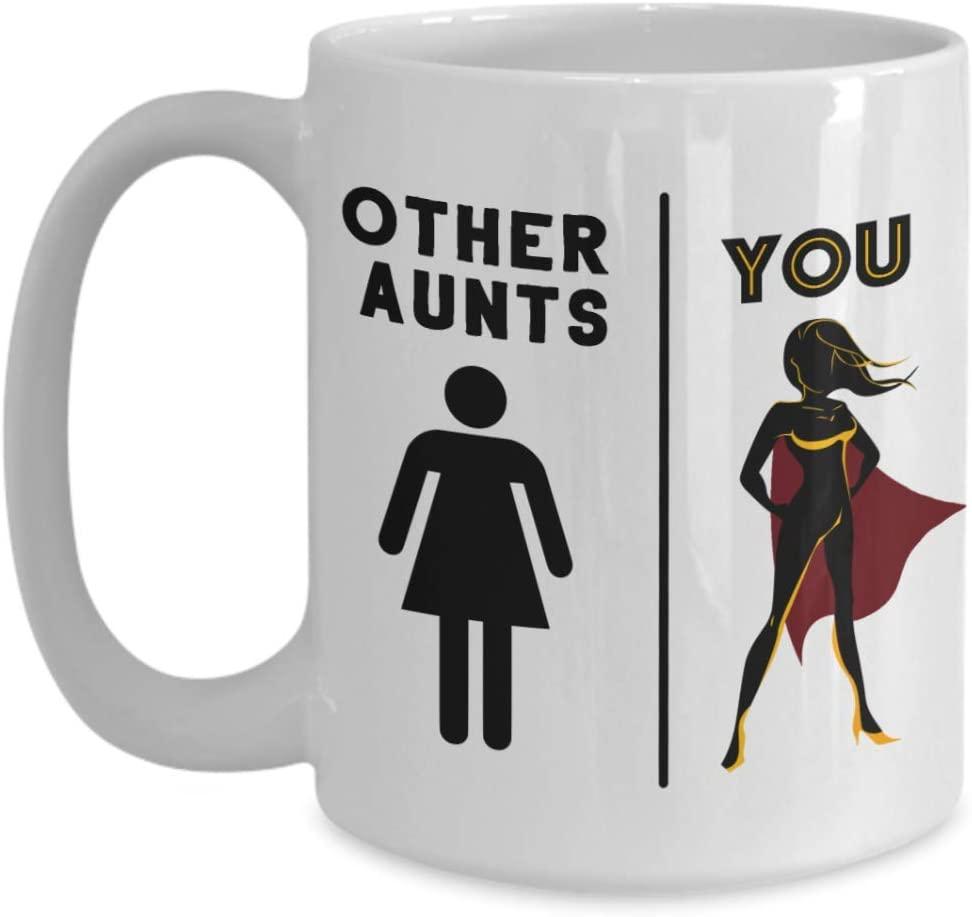 Best aunt ever mug great superhero from niece nephew funny birthday, My super hero mug auntie coffee cup