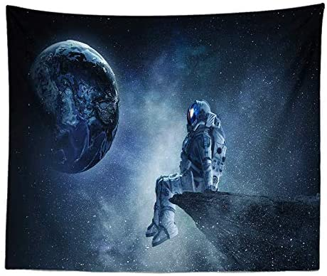ZY-KL Galaxy Tapestry, Starry Sky Tapestry, Psychedelic Tapestry, Space Landscape Tapestry, Starry Sky Art, Wall-Mounted Space Tapestries, for Home Decoration (59x51 inches) (GT12-34)
