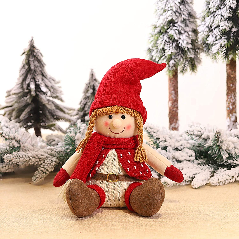 milkcha Handmade Santa Cloth Doll Birthday Present for Home Christmas Holiday Decoration Home Decor Home & Garden
