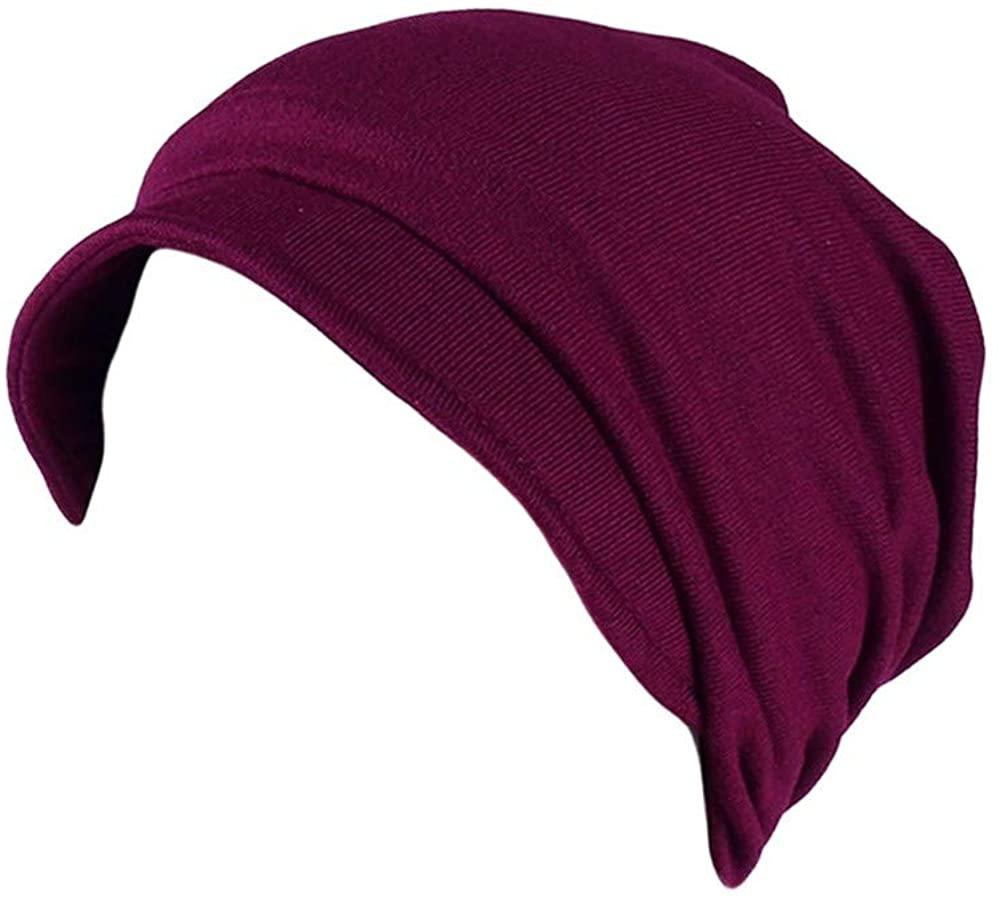 OSTELY Women Soild India Muslim Stretch Turban Hat Camouflage Hair Loss Head Scarf Wrap