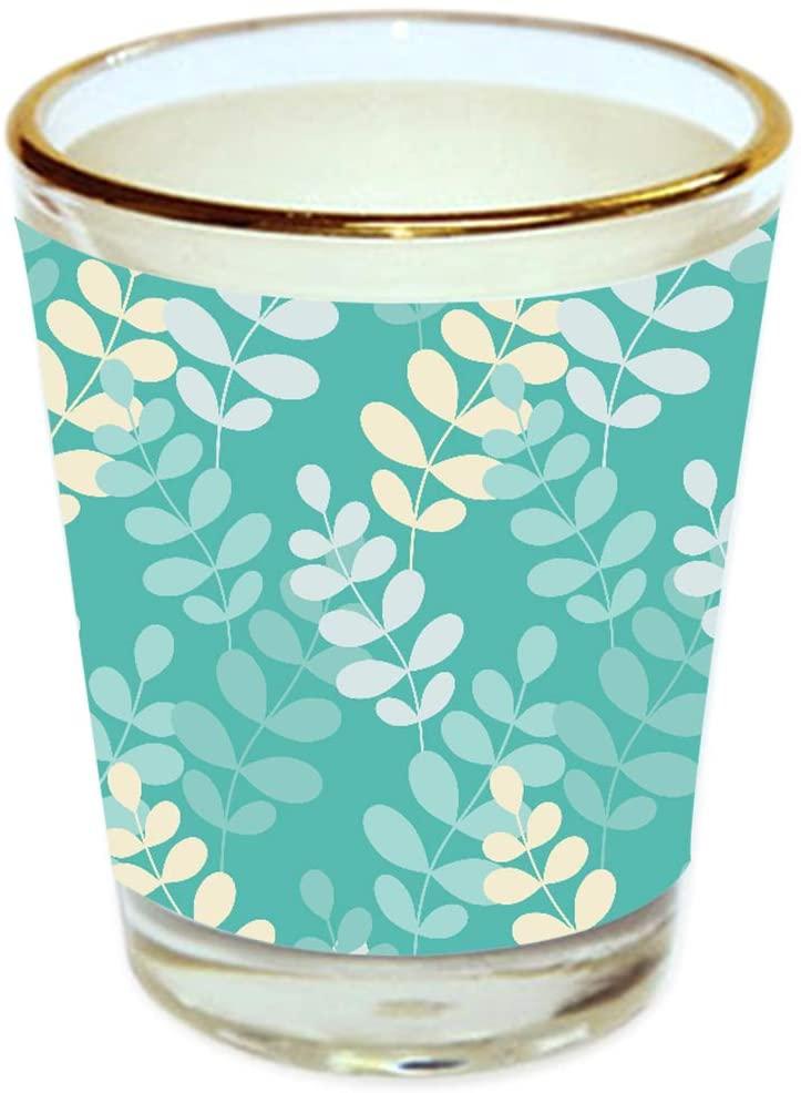 Shail GlobalVodka Shot Glass, Taquila Shot Glass, Whisky Glass | Multicolor Floral Design Golden Rim 40 ML | Bar Accessories | Boys Party Glasses